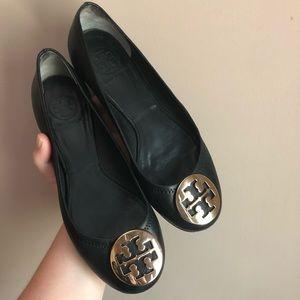 Tory Burch | Black Gold Reva Mestico Ballet Flats